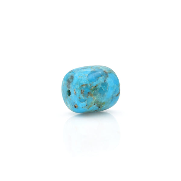 American-Mined Natural Turquoise Polychrome Loose Bead 16mmx18mm Drum Shape