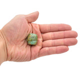 American-Mined Natural Turquoise Mosaic Loose Bead 22mmx23mm Drum Shape
