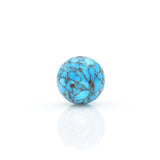American-Mined Natural Turquoise Mosaic Loose Bead 16mm Round Shape