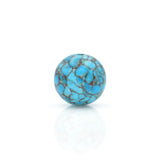 American-Mined Natural Turquoise Mosaic Loose Bead 18mm Round Shape