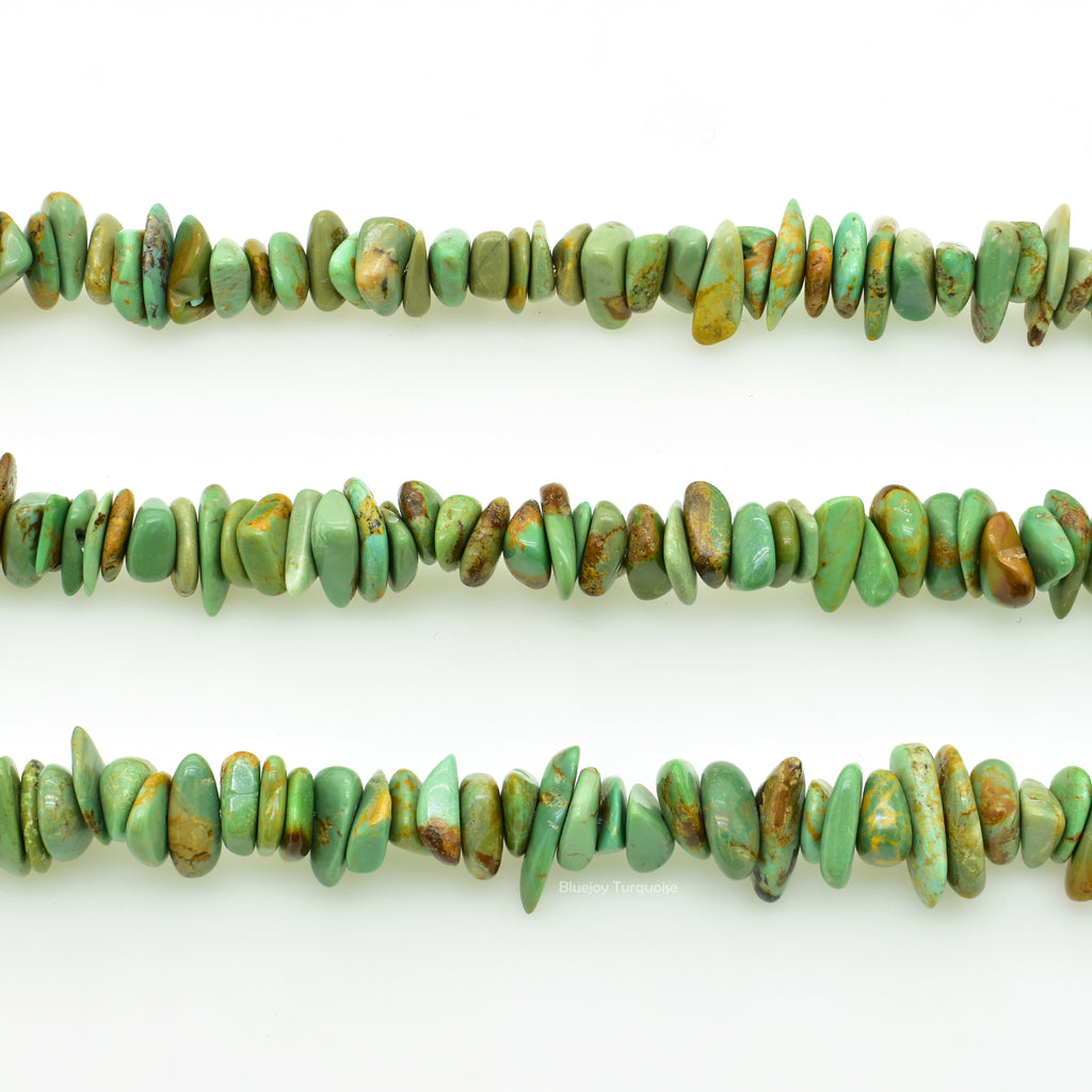 Genuine Natural American Turquoise Chip Bead 16 inch Strand for Jewelry Making (6x8mm)