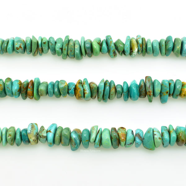 Genuine Natural American Turquoise Chip Bead 16 inch Strand (7x9mm)