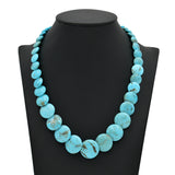 Genuine Natural American Turquoise Graduated Disc Bead 16 inch Strand (6-18mm)