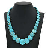 Genuine Natural American Turquoise Graduated Disc Bead 16 inch Strand (6-19mm)