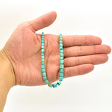 Genuine Natural American Turquoise Graduated Drum Bead 16 inch Strand (4x4mm-6x7mm)