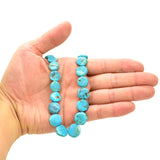 Genuine Natural American Turquoise Coin Shape Bead 16 inch Strand (6-16mm)