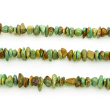 Genuine Natural American Turquoise Chip Bead 16 inch Strand (6x8mm)