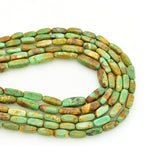 Genuine Natural American Turquoise Bar Shape Bead 16 inch Strand (4x10mm)