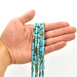 Genuine Natural American Turquoise Bar Shape Bead 16 inch Strand (5x12mm)