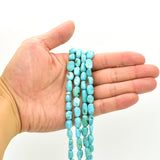 Genuine Natural American Turquoise Nugget Bead 16 inch Strand (6x8mm)