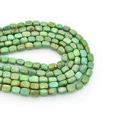 Genuine Natural American Turquoise Nugget Bead 16 inch Strand (6x8mm Light Green Color)