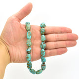 Genuine Natural American Turquoise Nugget Bead 16 inch Strand (10x18mm)