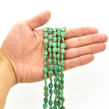 Genuine Natural American Turquoise Oval Bead 16 inch Strand (6x8mm Green)