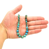 Genuine Natural American Turquoise Round Bead 16 inch Strand (4-10mm)