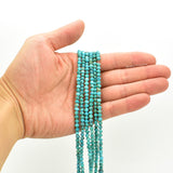 Genuine Natural American Turquoise Free-Form Round Nugget Bead 16 inch Strand (4mm)