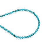 Genuine Natural American Turquoise Round Bead 16 inch Strand (3mm)