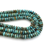 Genuine Natural American Turquoise Roundel Bead 16 inch Strand (8mm)