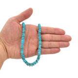Genuine Natural American Turquoise Graduated Roundel Bead 16 inch Strand (3mm-8mm)