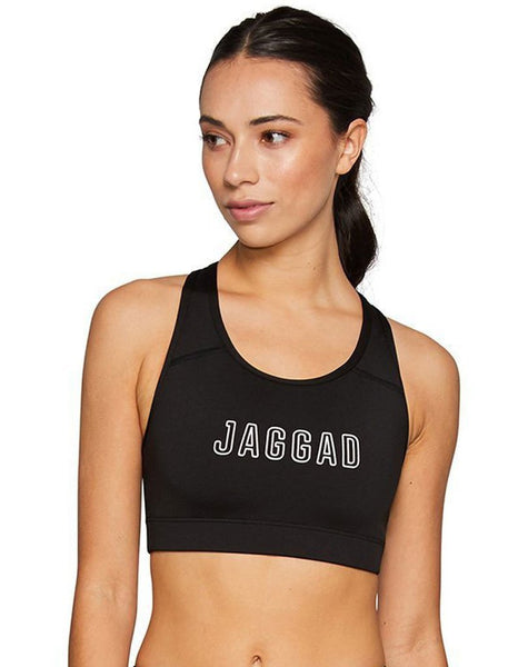 Crop Running Top-Black