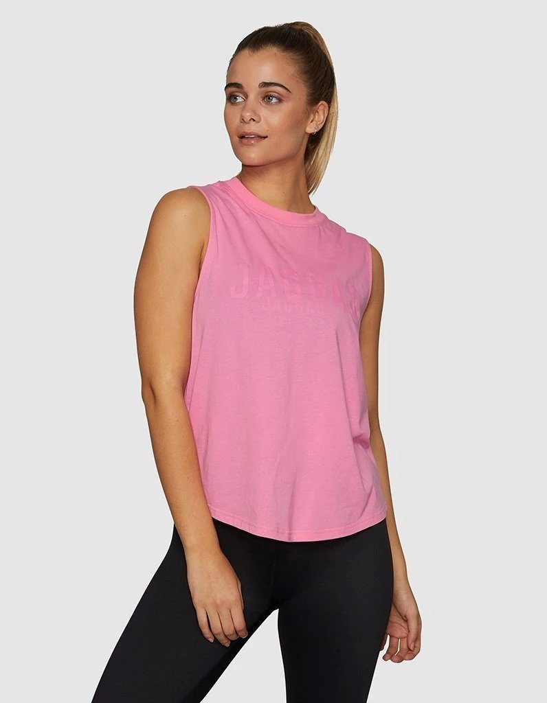 Side Step Muscle Tank Bubblegum Pink