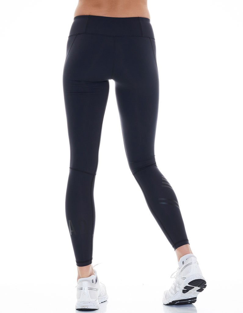Women's Black/Black Compression Leggings