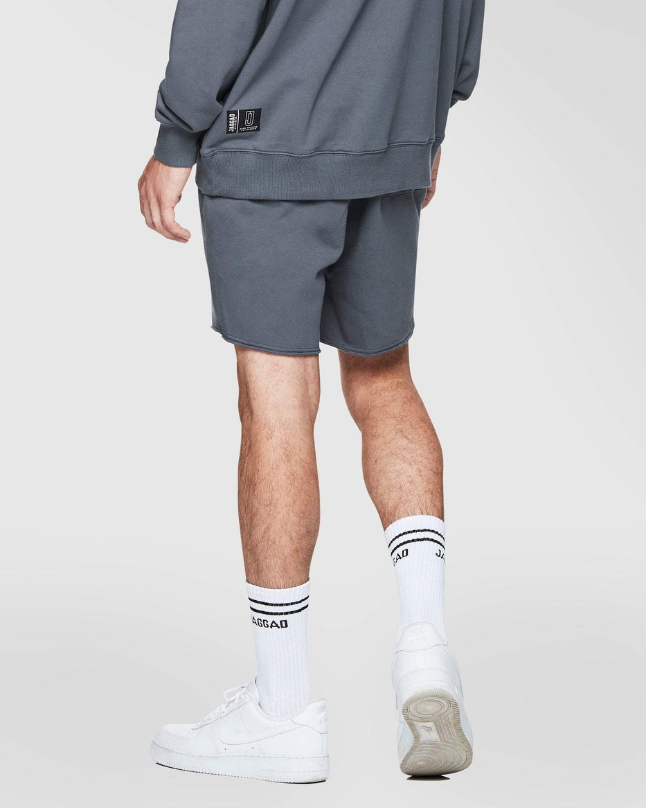 CHARCOAL FLEECE SHORTS