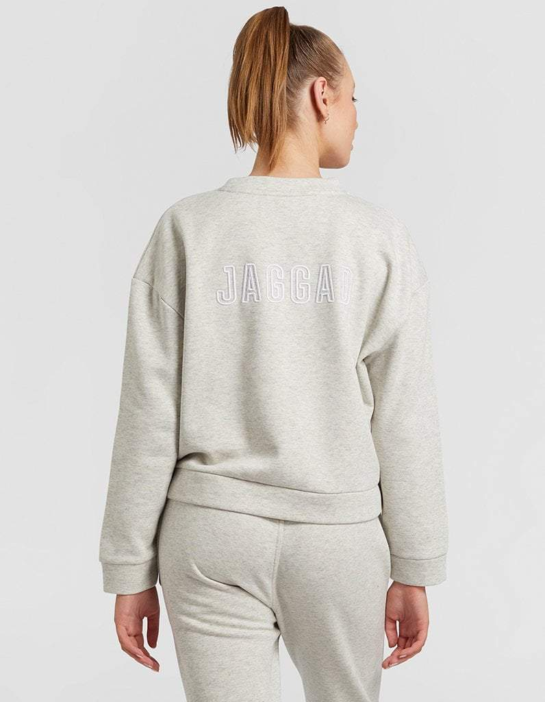 Light Grey Space Dye Sweater