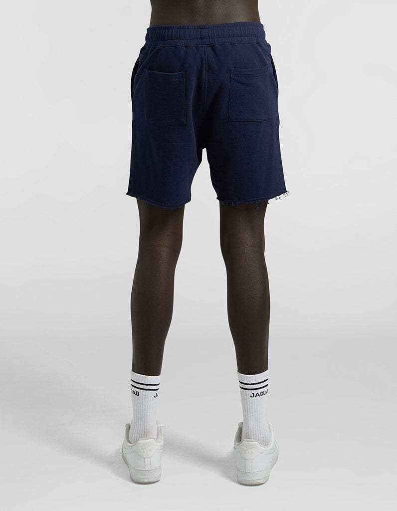 Navy Fleece Shorts