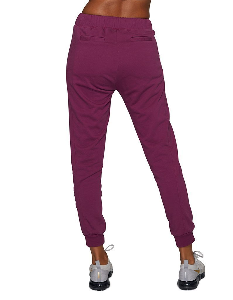 Wine Panelled Trackpants