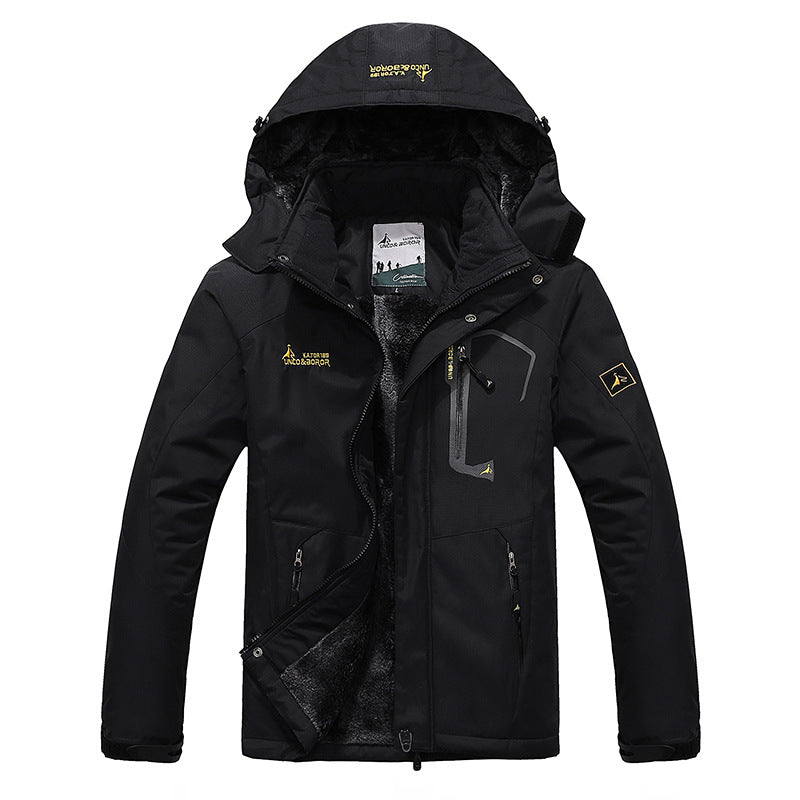 Men's Winter Fleece-lined Hooded Jacket