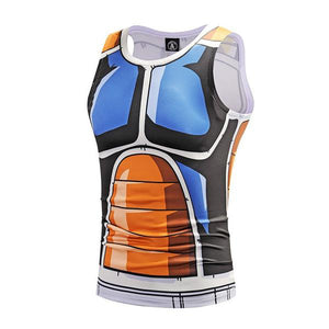 Dragon Ball Orange Saiyan Armor Workout Tank