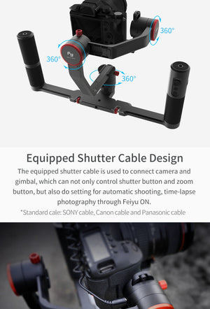 3-Axis Dual Handheld Grip DSLR Gimbal Stabilizer