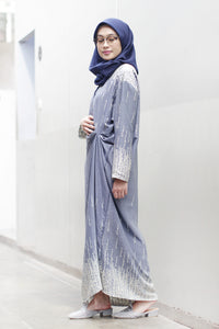 Rania Breastfeeding Dress Navy Cream, Dress - Casa Elana Indonesia