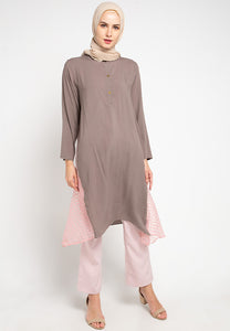 Aluvia Tunic Brown Pink
