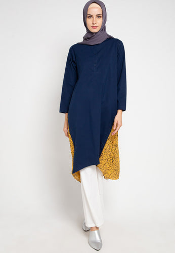 Aluvia Tunic Navy Yellow