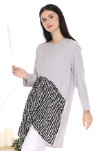 Load image into Gallery viewer, Celia Tunic Grey Black, Tops - Casa Elana Indonesia