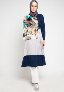 Amaya Breastfeeding Tunic Navy Abstract