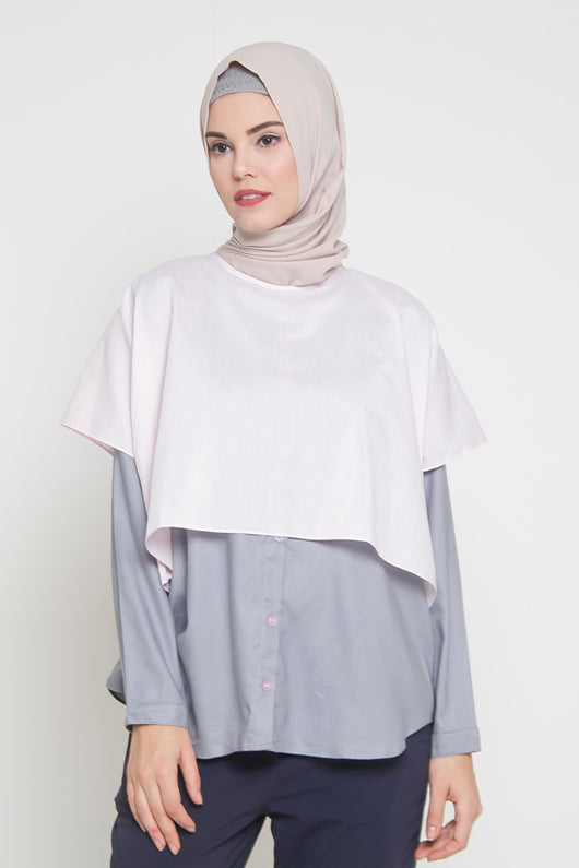 Evodia Breastfeeding Top Grey SoftPink, Tops - Casa Elana Indonesia