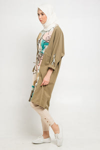 Frisha Tunic Green, Tops - Casa Elana Indonesia