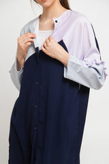 Lesva Tunic Blue Square Navy, Tops - Casa Elana Indonesia