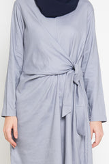 Leyana Breastfeeding Tunic Grey, Tops - Casa Elana Indonesia