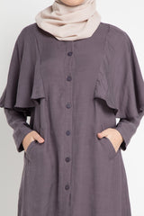 Randia Breastfeeding Dress Brown, Tops - Casa Elana Indonesia