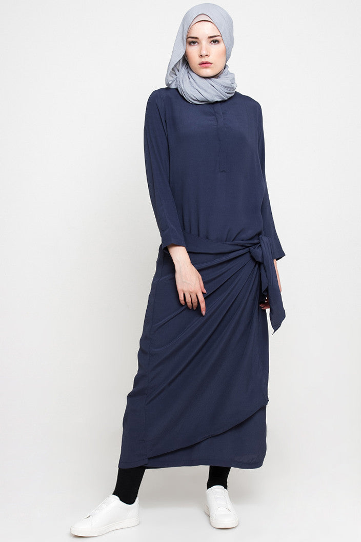 Tamara Dress Navy, Dress - Casa Elana Indonesia