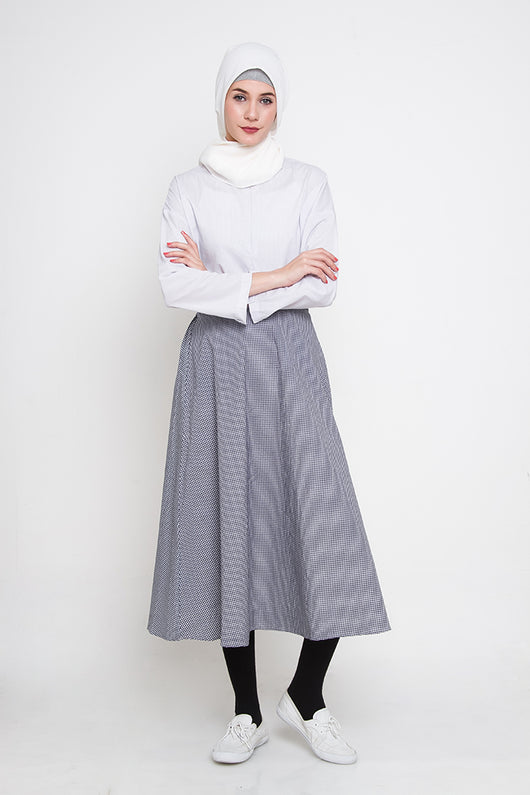 Viana Skirt Blue, Bottom / Pants - Casa Elana Indonesia