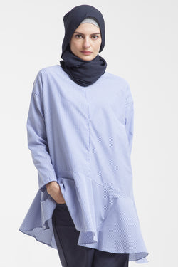 Yuri Breastfeeding Tunic Blue Stripe, Tops - Casa Elana Indonesia