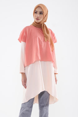 Safina Tunic Peach, Tops - Casa Elana Indonesia