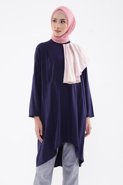 Sheya Tunic Navy - Pink Metalic, Tops - Casa Elana Indonesia