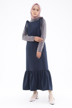 Michelia Overall Navy, Tops - Casa Elana Indonesia