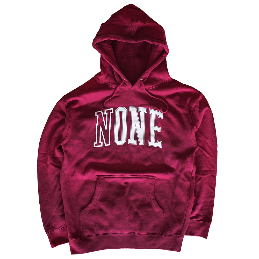 NONE University Hoodie (Cardinal Red)