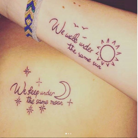Distance can't come between us matching best friend tattoo